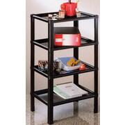 Sana Enterprises 4 Tier Stand, Storage and Home Organization Shelf; Black