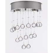 EverythingHome 2 Light Rain Drop Crystal Chandelier