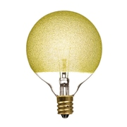 Bulbrite INC G16 1/2 40W Dimmable Ice Amber 4PK (144016)
