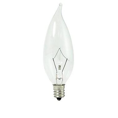 60 Watt Bulbrite® Krystal Touch® CA10 Clear E12 Krypton Decorative Bulb (60-Pack), Cool White