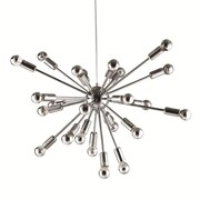 "Fine Mod Imports Spark Hanging Chandelier 23"", Silver (FMI8010-23-silver)"