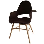 Fine Mod Imports Eero Dining Chair, Brown (FMI10033-brown)