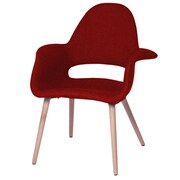 Fine Mod Imports Forza Dining Chair, Red (FMI10086-red)