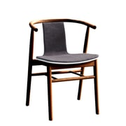 Fine Mod Imports Wishflat Dining Side Chair, Walnut (FMI10105-walnut)