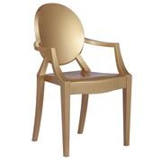 Fine Mod Imports Clear Arm Chair, Gold (FMI1130-gold)