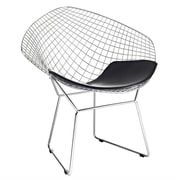Fine Mod Imports Wire Diamond Chair, Black (FMI1157-black)
