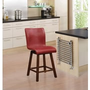 Wildon Home   Bar Stool; Red