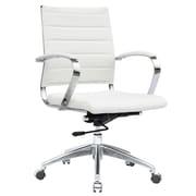 Fine Mod Imports Sopada Conference Office Chair Mid Back, White (FMI10077-white)