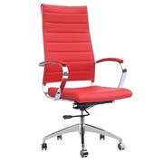 Fine Mod Imports Sopada Conference Office Chair High Back, Red (FMI10078-red)