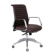 Fine Mod Imports Ox Office Chair Mid Back, Dark Brown (FMI10179-dark brown)