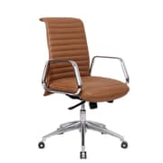 Fine Mod Imports Ox Office Chair Mid Back, Light Brown (FMI10179-light brown)