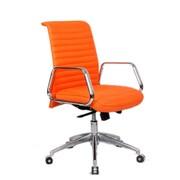 Fine Mod Imports Ox Office Chair Mid Back, Orange (FMI10179-orange)