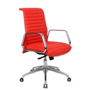 Fine Mod Imports Ox Office Chair Mid Back, Red (FMI10179-red)