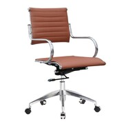 Fine Mod Imports Flees Office Chair Mid Back, Light Brown (FMI10209-light brown)