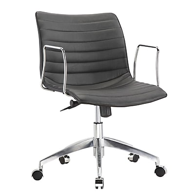 Fine Mod Imports Comfy Office Chair Mid Back, Black (FMI10224-black) 2374004