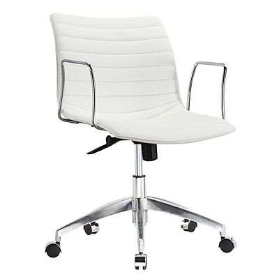 Fine Mod Imports Comfy Office Chair Mid Back, White (FMI10224-white) 2373998