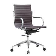 Fine Mod Imports Twist Office Chair Mid Back, Dark Brown (FMI10226-dark brown)