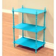 Mega Home 28'' Etagere Bookcase; Blue