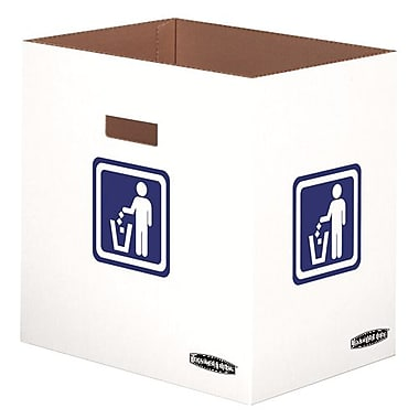 Bankers Box® Waste and Recycling Bin, 10 Gallon, 10/Pack