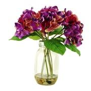 LCGFlorals Hydrangeas in Jar; Purple