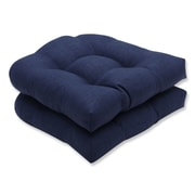Pillow Perfect Rave Outdoor Chair Seat Cushion (Set of 2); Indigo