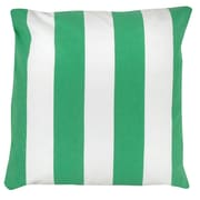 Antique Reproductions Awning Stripe 100pct Cotton Pillow Cover; Green