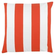 Antique Reproductions Awning Stripe 100pct Cotton Pillow Cover; Orange
