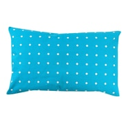 Antique Reproductions Dot 100pct Cotton Pillow Cover; Turquoise