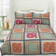 DaDa Bedding Gallery of Roses 3 Piece Quilt Cover Set; California King