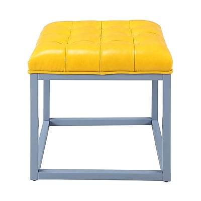 Iconic Home Newman Ottoman; Yellow WYF078279012055