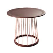 Adesso Barnum Metal End Table, Walnut, Each (WK2360-15)