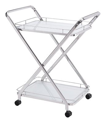 Zuo Modern Vesuvius Serving Cart Stainless Steel (WC100369) 2381447
