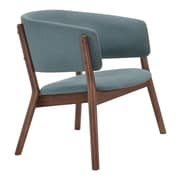 Zuo Chapel Fabric Bankers Office Chair, Fixed Arms, Blue (WC100155)