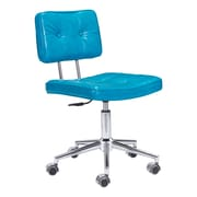 Zuo Modern Series Leather Computer and Desk Office Chair, Armless, Blue (WC100238)