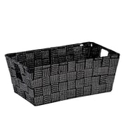 Simplify Small Woven Strap Shelf Tote, Black/Silver (26244-Blk/Silver)