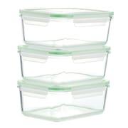 Kinetic GoGREEN Glassworks 54 Oz. Rectangular Oven Safe Glass Food Storage Container (Set of 3)