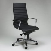 Impacterra Kaffina High-Back Office Chair with Arms; Black