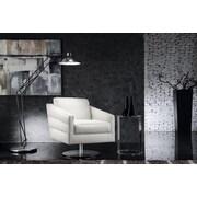 Hokku Designs Eagle Full Top Grain Leather Armchair; White