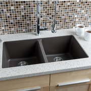 Hahn 33'' x 18.5'' Granite Extra Large Double Bowl Kitchen Sink