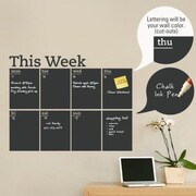 SimpleShapes Weekly Calendar Chalkboard Wall Decal
