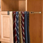 Rev-A-Shelf Pull-Out Side Mount Tie Rack; Chrome