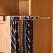 Rev-A-Shelf Pull-Out Side Mount Tie Rack; Satin Nickel