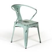 Aeon Furniture Gisela Arm Chair (Set of 2); Blue