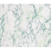 WallPops! DC Fix Marble Window Film; Green and White