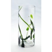 Diamond Star Glass Vase w/ Artistic Tree