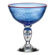 Kosta Boda Red Rim Brains Footed Bowl
