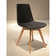 B&T Design Pera Wood Chair; Black