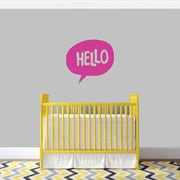 SweetumsWallDecals 3 Piece Hello Word Bubble Wall Decal Set; Hot Pink