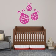 SweetumsWallDecals 3 Piece Ladybugs Wall Decal Set; Hot Pink