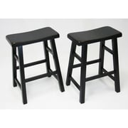 eHemco 24'' Bar Stool (Set of 2); Antique Black